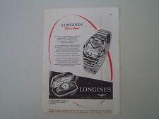 advertising Pubblicità 1958 OROLOGIO LONGINES SILVER ARROW