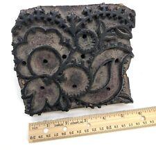 Antique carved Wooden Vintage Textile Wallpaper Fabric Batik Printing Block