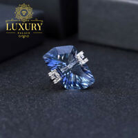 Natural 21.2Ct Lolite Blue Mystic Quartz Solid 925 Sterling Silver Cocktail Ring