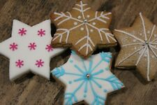 Snow flake cookie biscuit icing embosser stamp cutter