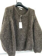 AMERICAN VINTAGE pull jumper ML 38 40 42 UK 10 14 marron wool BABY ALPAGA 78%