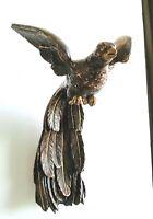 Oiseau en bois sculpté polychrome