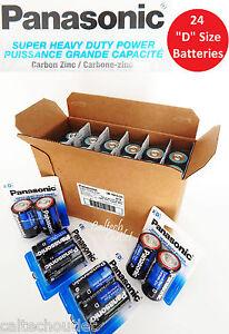 """24 x Panasonic """"D"""" Size """"D"""" Battery Batteries Super Heavy Duty Power Zinc Carbon"""