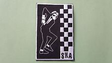 MOD SKA SCOOTER SEW ON / IRON ON PATCH:- PATCH No 12359 TWO TONE SKA DANCER