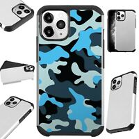 Fusion Case For iPhone 11/Pro/X/XR/XS Max Phone Cover BLUE BLACK CAMO