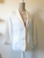 GAP Womens Size 6 Blazer Jacket White Linen Cotton NEW with tags rrp £39.50