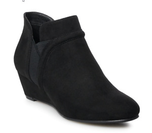 Croft & Barrow Women's Abril Ankle Boots Booties Black Size 7 W Wide NIB NEW