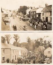 4 old photographs on paper Grampound Nr St Austell Truro ( NOT POSTCARDS)