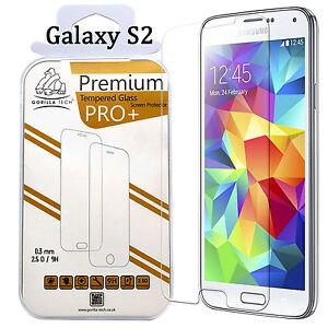 Für Samsung Galaxy S2 Original Gorilla Hartglas Displayschutzfolie