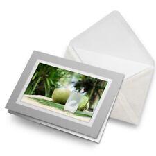 Tarjeta De Saludos (Gris) Agua Jugo de Coco Natural-joven #21365