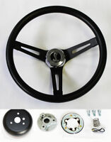 """70-77 Mustang Cobra II Black on Black Steering Wheel 13 1/2"""" Cobra Snake Center"""
