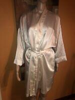 vintage christian dior L/XL night godn robe embroidered logo venus sexy w strap