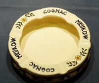 ASHTRAY COLLECTORS - PORCELAIN, HAND-PAINTED BASQUE ASHTRAY COGNAC