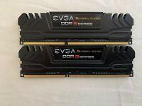EVGA Superclocked DDR3 Series, 8GB 1600 DDR3 PC3 12800 CL 9-9-9-24