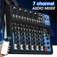 7 Kanal bluetooth Audio Mixer Mischpult Anzeige Musik Stream LED 30W DJ D