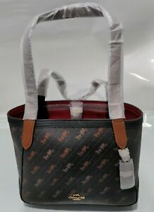 COACH Horse And Carriage Tote 27 With Horse and Carriage Dot Print NWT MSRP $328