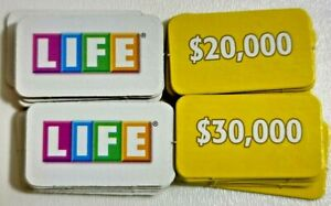 2007 Money Tiles Game of Life Replacement Parts Pieces