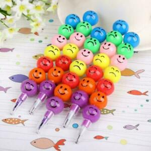 New Party 7 Colors Crayon Gift Fashion Children Swap  Smile Face Drawing Pen