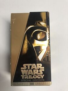 Star Wars Trilogy VHS Special Edition 1997 Gold Box Set