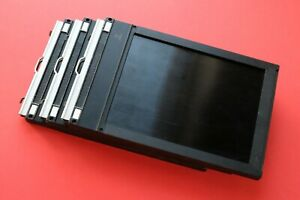 3 Lisco 5 x 7 Wood Film Holders