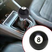 Universal Manual Gear Shift Knob Shifter #8 Billiard Ball Round Lever Car Cover