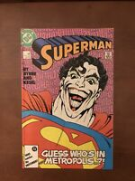 Superman #9 (1987) 9.2 NM DC Key Issue Copper Age Comic Book Joker Cover Byrne