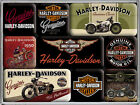 Harley Davidson Lot de magnets avec 9 Aimants