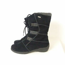 RHODE Stiefel Boots Winter Kunstleder Schnürer Gr. 38 1/2 (K93)