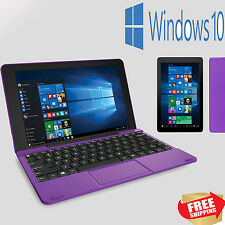 "2 in 1 Tablet Laptop 10.1"" Screen 32GB Windows 10 Intel Quad-Core Processor PC"