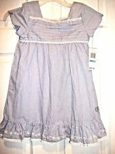 NWT toddler girls  IZOD  Blue and white pinstripes dress SZ 5 MSRP $30.00