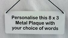 Personalised Metal Sign Door Plaque Custom House Indoor or Outdoor Use