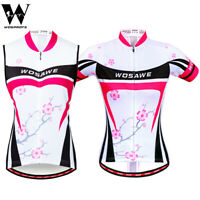 Women Cycling Jersey Sleeveless Tops Short Sleeve Bike Riding Vest Elastic Lady