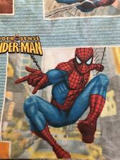 Spiderman Marvel Flat Bedding Sheet Spider-Sense Fabric Crafting Quilting