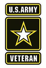 U.S. Army Veteran Bumper Sticker Window Laptop Car Decal Vinyl iPad