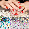 20 Colors Nails Art Crystal Glass Rhinestones For Nails 3D Nail Art Decoration,