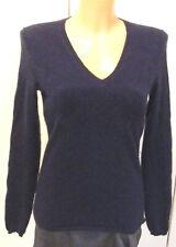 Orig LORD & TAYLOR Pullover 100% Kaschmir Cashmere blau Größe 36