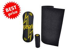 Trickboard Yellow Thunder + Roller + Carpet - Indo Board Rollerbone Balance GLS