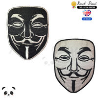 Anonymous Mask Vendetta Embroidered Iron On /Sew On Patch Badge For Clothes etc