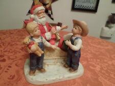 "Home Interior Denim Days 1985 "" Santas Visit "" # 8924 00004000"