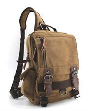 Canvas Shoulder Backpack Travel Rucksack Sling Bag Cross Body Messenger Bags