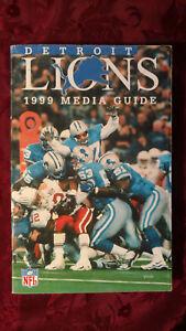 Detroit LIONS 1999 NFL Pro Football Media Guide Program