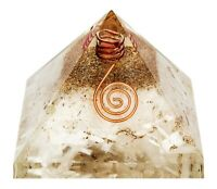Authentic EXTRA LARGE Selenite ORGONE Crystal Pyramid EMF PROTECTION USA SELLER