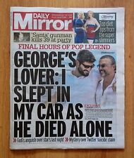 UK Daily Mirror  January 2nd 2017 George Michael's Final Hours - Exclusive