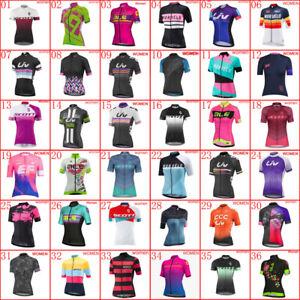 2021 New Women Cycling Jersey Summer Team Bike shirt bicycle Tops Sports Uniform