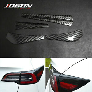 6pcs S.Steel Rear Tail Light Taillight Eyelid Splitter Trim For Tesla Model 3
