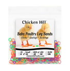 """100+ Chick Leg Bands ~ 5/16"""" Size 5 Large Poultry Chickens Ducks Geese"""
