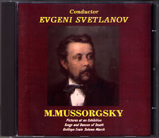 SVETLANOV: MUSSORGSKY Pictures at an Exhibition Songs  Dances Death ARKHIPOVA CD
