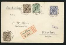 GERMANY Colony Marshall Islands, Excellent Classic Cover w/ 4 stamps affixed