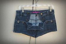 DOLLHOUSE Size 4/5 Hot Mini Denim Short Shorts Buttons