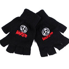 Anime Naruto Hatake Kakashi Sharingan Cosplay Cotton Knitted Gloves Mittens Gift